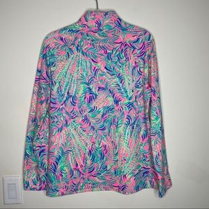 Lilly Pulitzer Tops - NWT LP Pink Sunset Coco Breeze Skipper Popover M